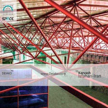 پلی کربنات سقف سازه های فضاکار