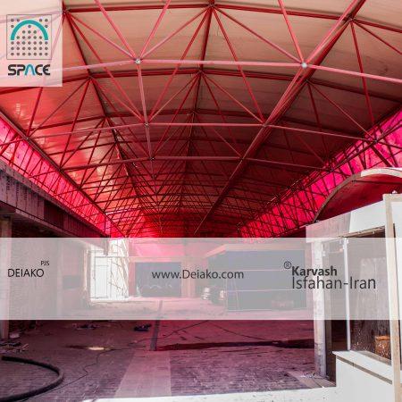 پوشش شفاف سازه فضایی
