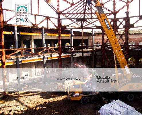 جوش سازه فولادی اسپیس فریم ایران