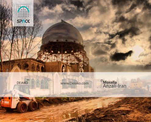 معماری مسجد اسلامی سازه فضایی