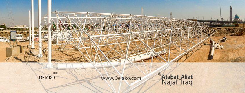 عملیات نصب سازه فضاکار عراق