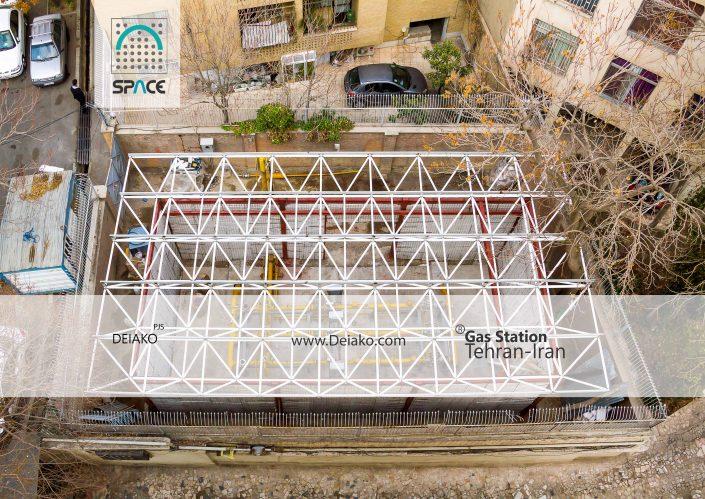 سقف سازه فضایی تخت ایستگاه گاز پاسداران تهران