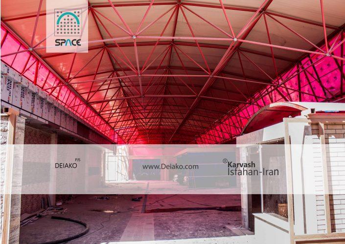 سقف فضایی قوسی کارواش فولادشهر