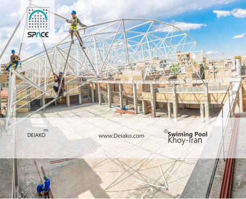سقف سازه فضاکار ورزشگاه خوی