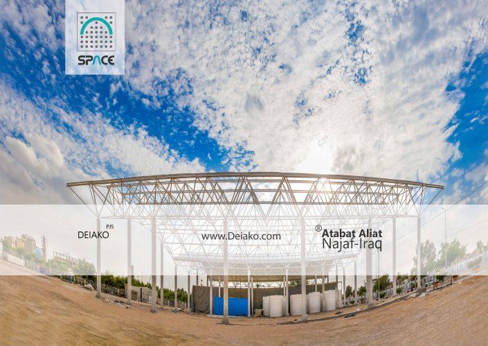 احداث سقف سازه های فضایی قوسی توسط شرکت سازه فضایی