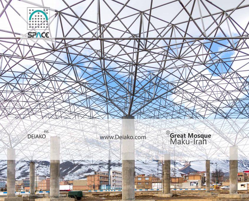 سازه فضایی هرمی مسجد بزرگ ماکو آذربایجان غربی