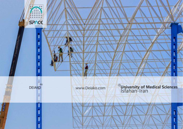 مونتاژ سازه فضایی قوسی ورزشگاه اصفهان