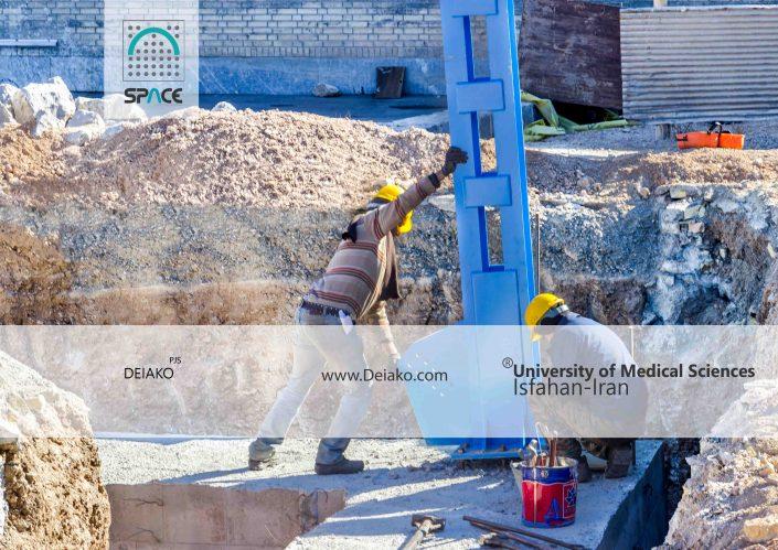 ستونگذاری اسپیس فریم چلیک ورزشگاه بانوان اصفهان