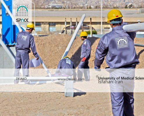 نصب و اجرای سازه فضایی چلیک ورزشگاه دانشگاه اصفهان