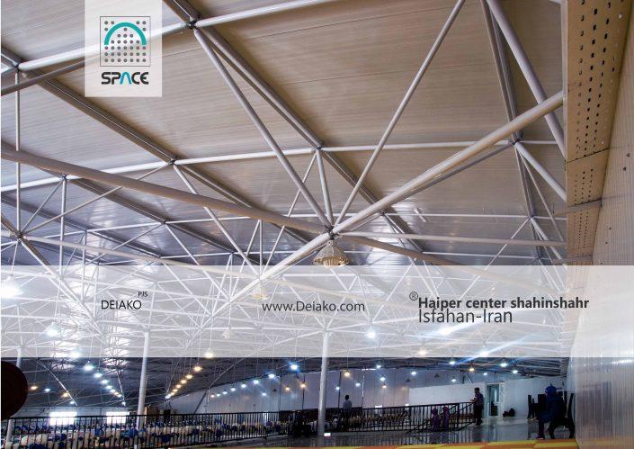نورپردازی سازه فضایی قوسی هایپر سنتر اصفهان