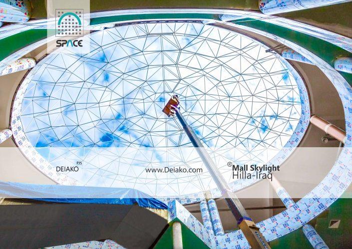 نورگیر اسکای لایت سازه فضایی گنبدی بازار حله