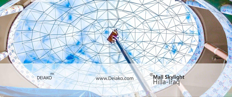 نورگیر سازه فضاکار گنبدی بازار